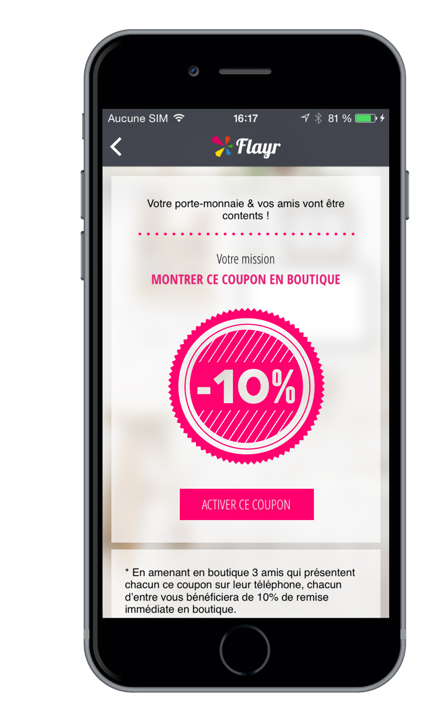 Flayr Offre potes coupon