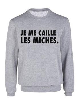 """Sweat """"je me caille les miches"""" Alfred Le Français, 33€90"""