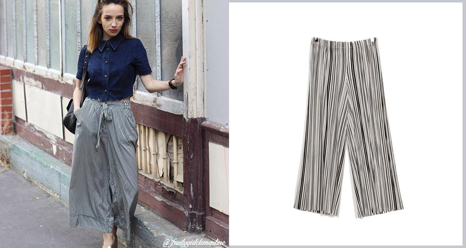 jupe pantalon fluide comment bien la porter. Black Bedroom Furniture Sets. Home Design Ideas