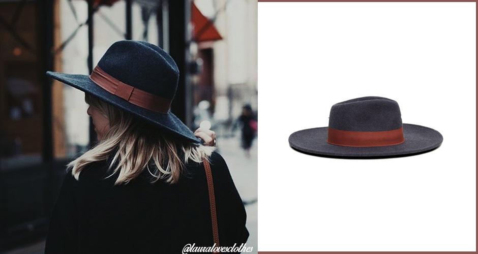 look-pluie-chapeau-feutre-lauralovesclothes