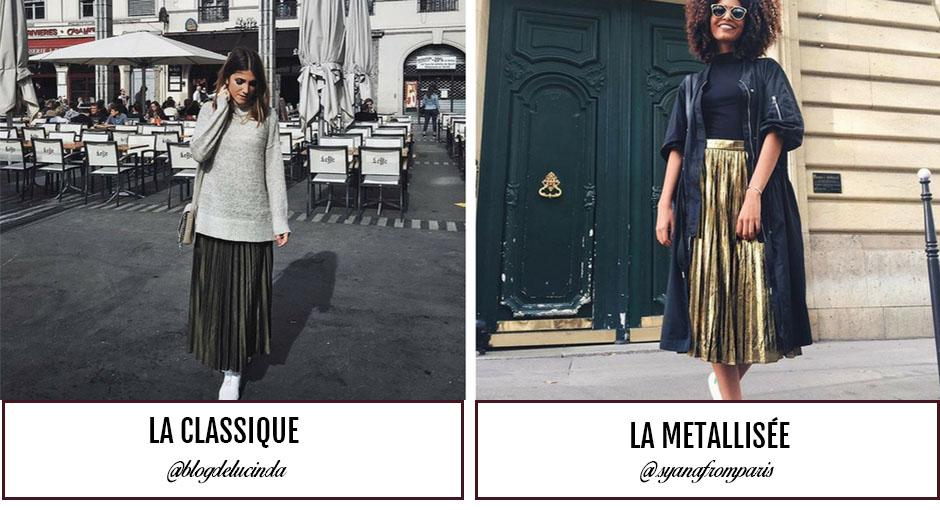 La jupe plissée : bien la porter
