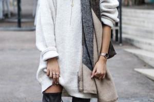Comment porter la robe-pull cet hiver ?
