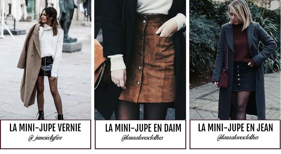 af43f25a6ab Bien-aimée Mini-jupe   bien la porter cet hiver  LL 05